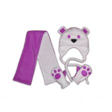 Набор Мишка фиолетовый